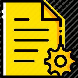 communication, file, interaction, interface, settings icon
