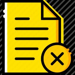communication, delete, file, interaction, interface icon