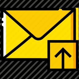 communication, interaction, interface, mail, upload icon