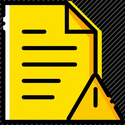 communication, file, interaction, interface, warning icon