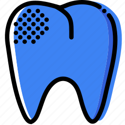 health, healthcare, medical, mildly, premolar, rotten icon