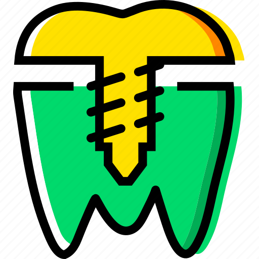 crown, health, healthcare, implant, medical, premolar icon