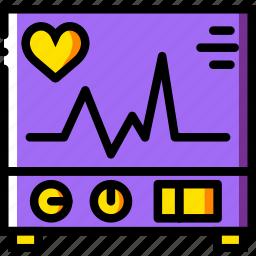 electrocardiogram, health, healthcare, medical icon