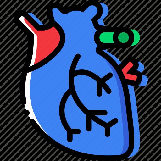 cardiac, health, healthcare, medical, muscle icon