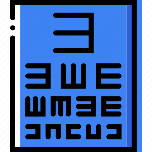health, healthcare, medical, test, vision icon