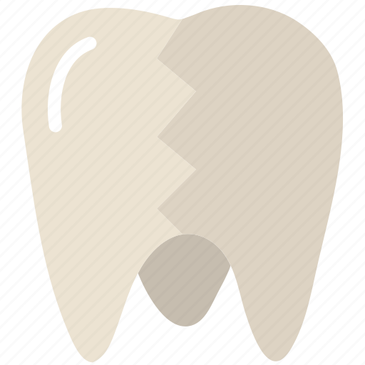 broken, health, healthcare, medical, molar icon