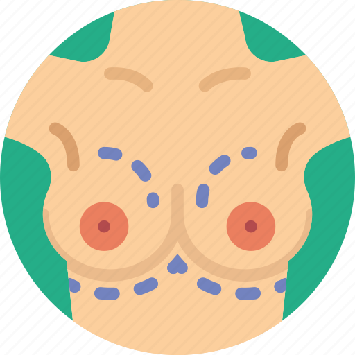 breast, health, healthcare, implant, medical icon