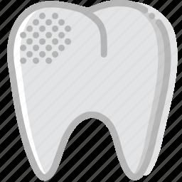 health, healthcare, medical, mildly, premolar, rotten icon