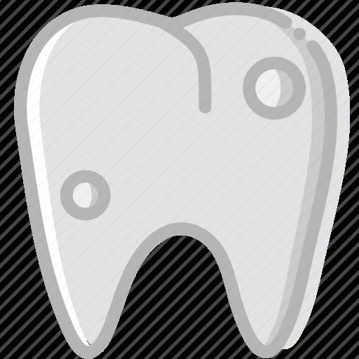 health, healthcare, medical, premolar, rotten icon