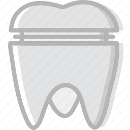 crown, health, healthcare, medical, molar icon