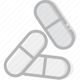 capsuled, health, healthcare, medical, pills icon