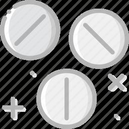 health, healthcare, medical, pills, pressed icon