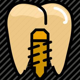 health, healthcare, implant, medical, premolar icon