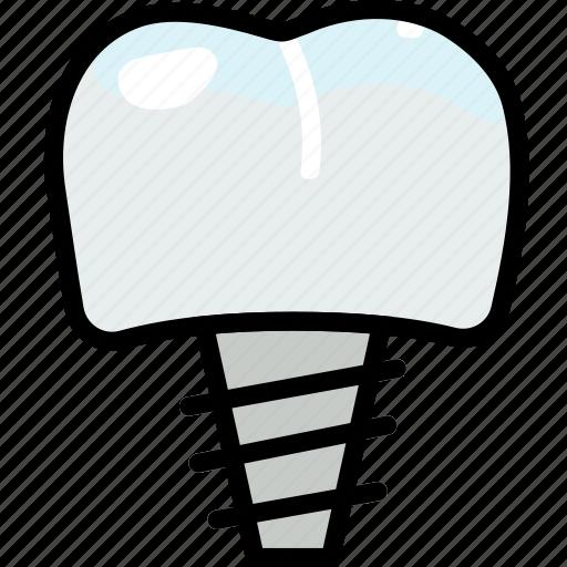 dental, health, healthcare, implant, medical icon