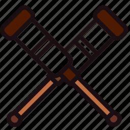 crutches, health, healthcare, medical icon
