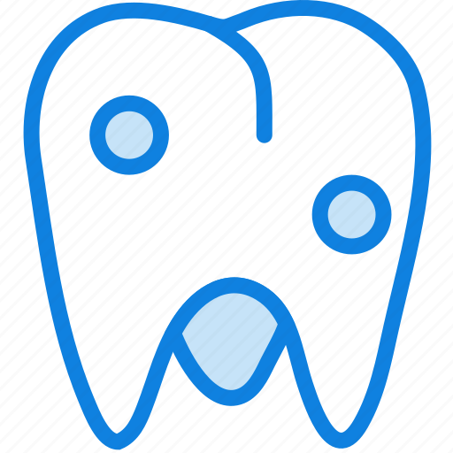 health, healthcare, medical, molar, rotten icon