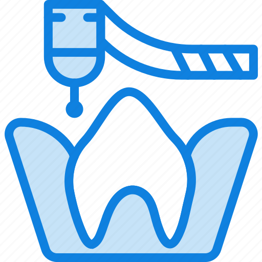 drilling, health, healthcare, medical, molar, root icon
