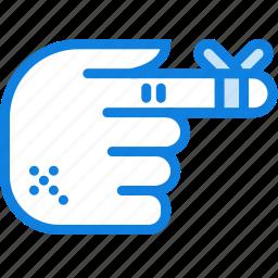 bandaged, hand, health, healthcare, medical icon