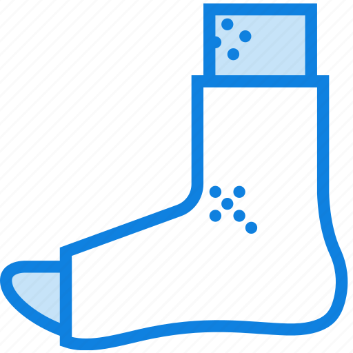 foot, health, healthcare, medical, plastered icon