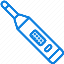 digital, health, healthcare, medical, thermometer icon