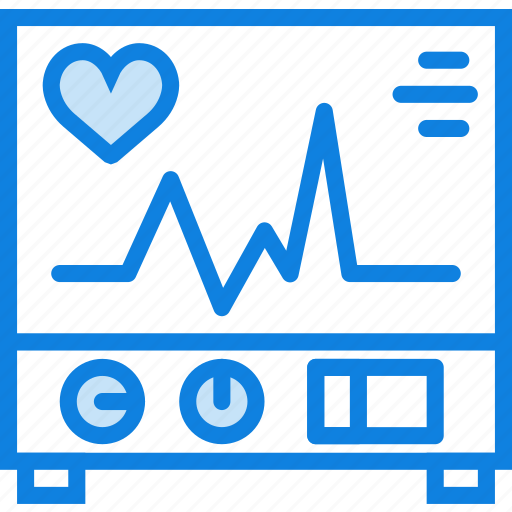 electrocardiogram, health, healthcare, medical icon