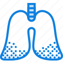 disease, health, healthcare, medical, pulmonary icon