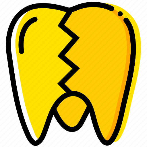 broken, health, healthcare, medical, molar icon