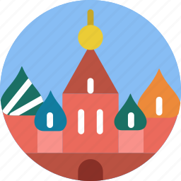 big, building, kremlin, monument, tall icon