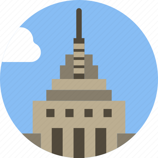 big, building, empire, monument, state, tall icon