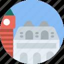 big, building, monument, tall, venice icon