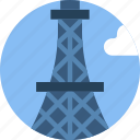 big, building, eiffel, monument, tall, tower icon