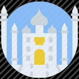 big, building, mahal, monument, taj, tall icon