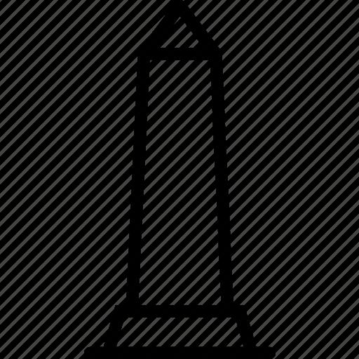 big, building, monument, obelisk, outline, tall icon