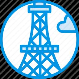 big, building, eiffel, monument, tall, tower, webby icon