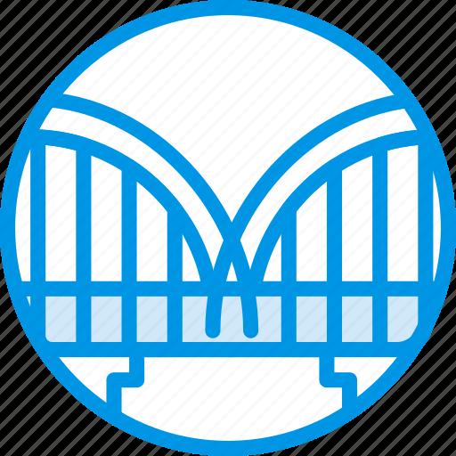big, bridge, building, monument, tall, webby icon