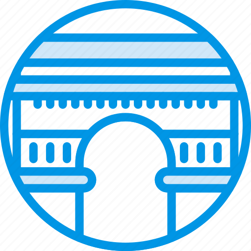 big, building, du, larc, monument, tryumphe, webby icon