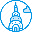 big, building, chrysler, monument, tall, webby icon