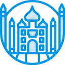 big, building, mahal, monument, taj, tall, webby icon