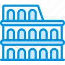 big, building, colosseum, monument, tall, webby icon