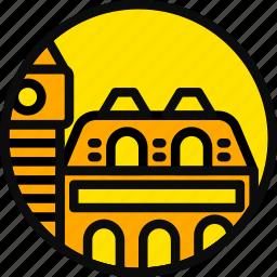 building, italy, monument, venice, yellow icon
