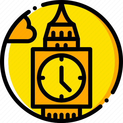 ben, big, building, monument, yellow icon