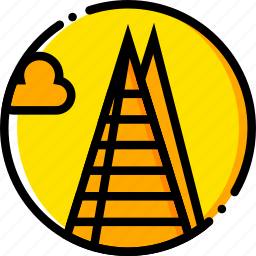 building, monument, shard, the, yellow icon