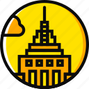 building, empire, monument, state, yellow