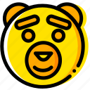 bear, head, movie, ted, yellow icon