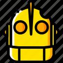 giant, head, iron, movie, yellow