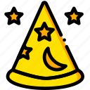 fantasia, hat, movie, stars, yellow icon