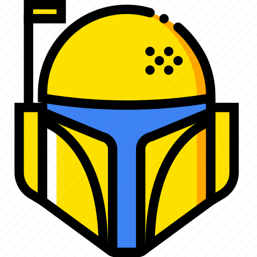 bobba, fett, movie, star, wars, yellow icon