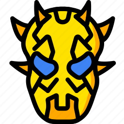 maul, movie, star, wars, yellow icon