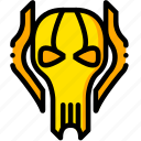 grievous, movie, star, wars, yellow icon