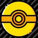 movie, ball, pokemon, poke, yellow icon